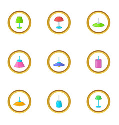 lamps icons set cartoon style vector image