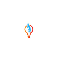 light bulb idea wave logo vector image