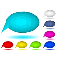 Low polygonal speech bubbles vector image
