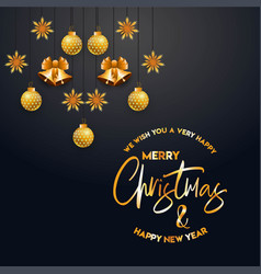 merry christamas design with creative design vector image