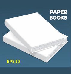 Mock-ups of paper books-05 vector