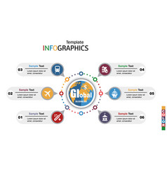 modern infographics template global business vector image