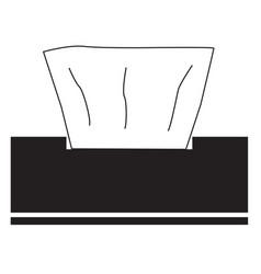 Napkins icon on white background flat style vector