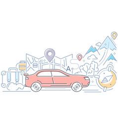 navigation - modern line design style vector image