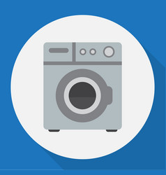 Of home symbol on washing vector