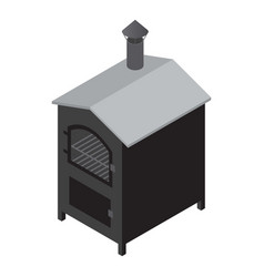 oven icon isometric style vector image