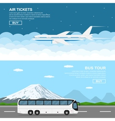 plain and bus vector image