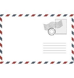 postage retro envelope vector image