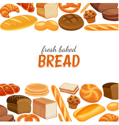Poster template with bread vector
