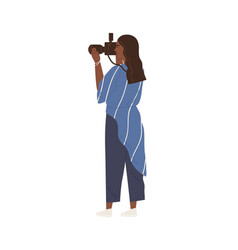 professional female photographer or videographer vector image