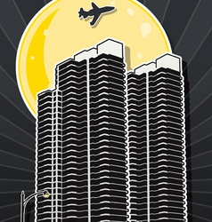 san diego building two vector image