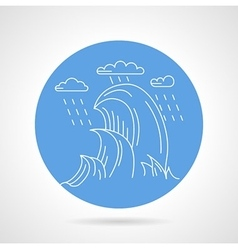 Sea waves blue icon vector image