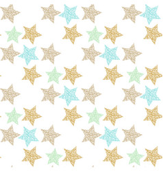 seamless pattern with hand-drawn and texture vector image