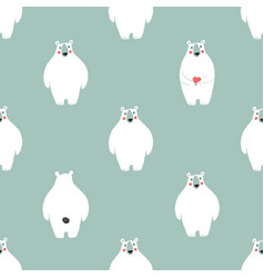seamless pattern with white bears vector image