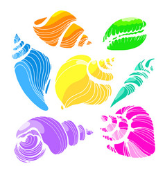 Seashells color 2 vector