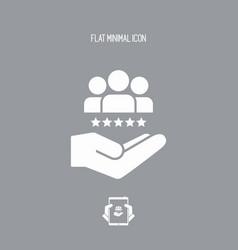 Service offer - best team - minimal icon vector
