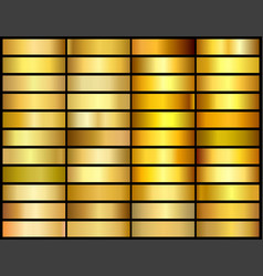 set 33 unique gold gradient backgrounds vector image