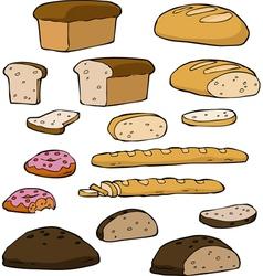 set bread vector image