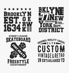 set of various vintage t shirt stamp vector image