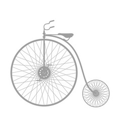 Silhouette of vintage bicycle in grey design vector
