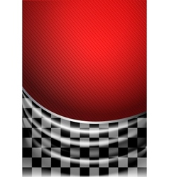 Silk tissue in checkered on a red background vector image