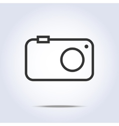 Simple camera icon gray color vector image