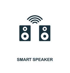 Smart speaker icon monochrome style icon design vector