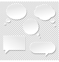 Speech bubble big set vector