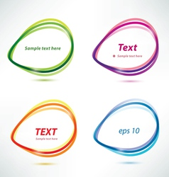 speech bubbles set icons vector image