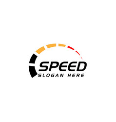 Speed logo icon simple design race logo template vector