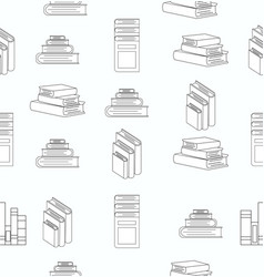 stack books white flat design seamless pattern vector image