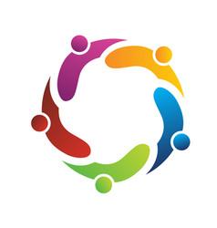 teamwork logo vector image