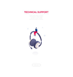 technical support - modern isometric web vector image