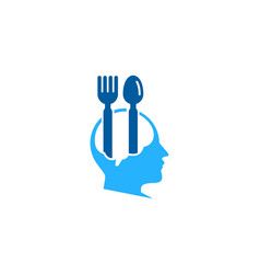 Think food logo icon design vector