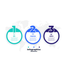 Three steps professional circular infographic vector