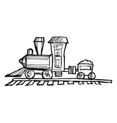 Toy steam engine train vector