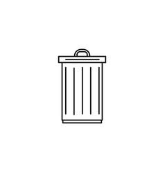 trash icon vector image