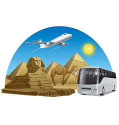 Travel journey in egypt vector