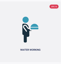 Two color waiter working icon from people concept vector