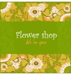 vintage signage for flower shop vector image