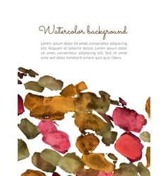 Watercolor spot background vector image