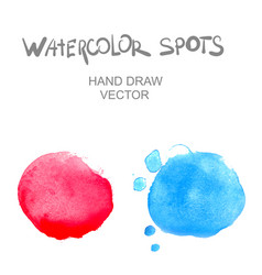 Watercolor spots vector