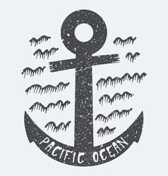 Anchor Pacific ocean vector image vector image