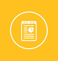 report document icon in circle vector image vector image