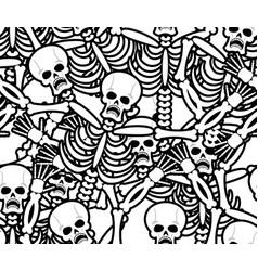 sinners seamless pattern skeleton in hell vector image vector image