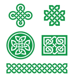 Celtic knots braid patterns - St Patricks Day vector image vector image