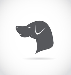 image of an dog head vector image vector image