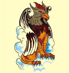 lion eagle vector image