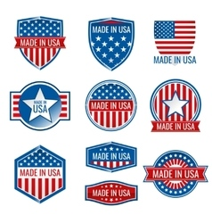 Made in USA icons vector image