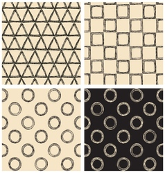 set of geometric patterns vector image vector image